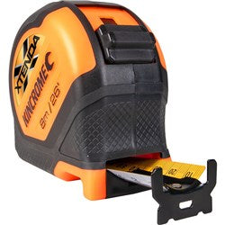 8M XTENDA ORANGE HI-VIS TAPE MEASURE K11000O