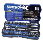 "LOK-ON SOCKET SET 44 PIECE 1/4"" & 3/8"" DRIVE - METRIC & IMP K27031"