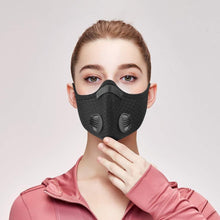 Load image into Gallery viewer, Washable, Super Breathable Sports Face Mask with Two Air Valves