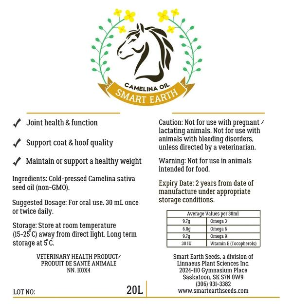 Camelina Oil for Equine - 5gal Pail