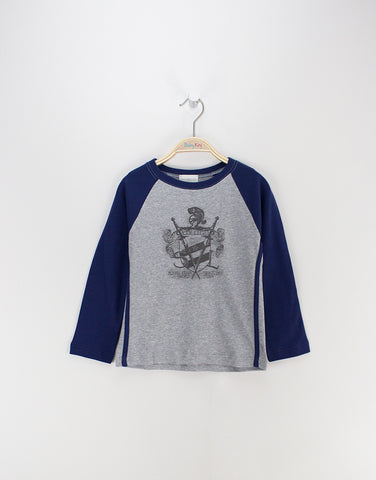 Boys pyjamas with royal club sword print