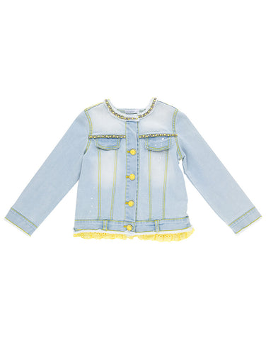 Girls stylish blue  denim jacket - Artigli