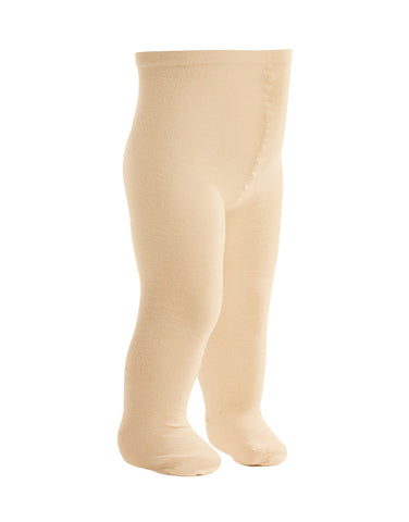 Ecru 100% organic baby tights