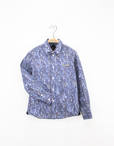 Boys Blue Cotton Shirt