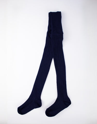 Kids navy cotton tights