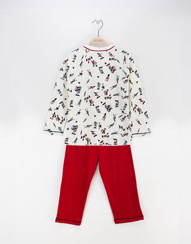 Boys pyjamas set with soldiers prints