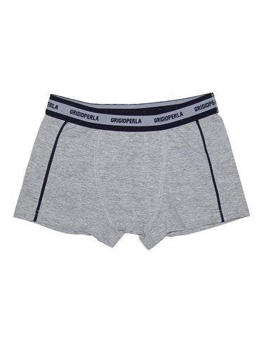 Boys Grey Cotton Boxer Shorts