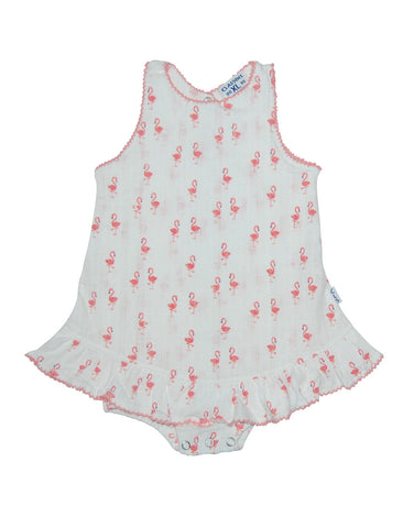 Girls Flamingo body vest with hem - Claesens
