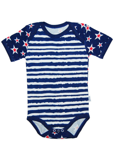 Baby navy stripes cotton body vest - Claesens
