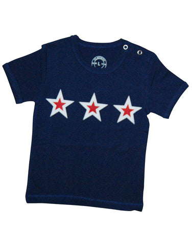 Boys cotton Navy Star T-shirt - Claesens