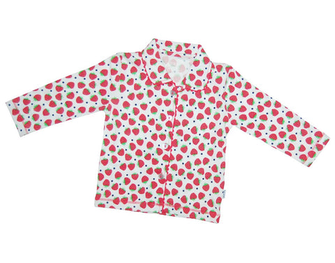 Girls cotton two piece pajamas with strawberry - Claesens