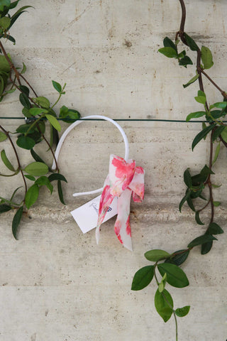 Hair band with pink flowers - Piccola Ludo