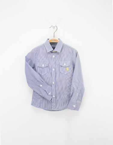 Boys Cotton Striped Shirt With Pockets