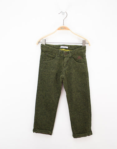 Boys Khaki Cotton Trousers