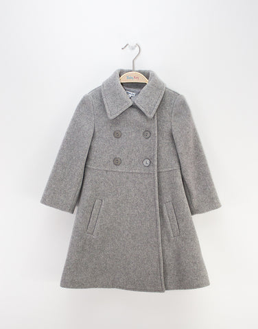 Girls Cashmere Grey Coat