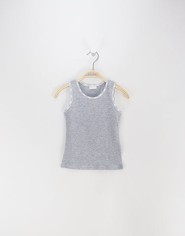 Unisex Grey Cotton Jersey Vest