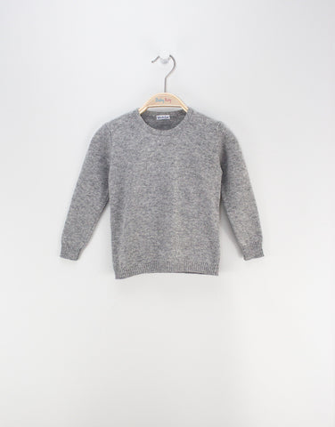 Girls Merino Grey Jumper