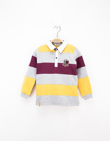Boys Long Sleeves Cotton Polo Shirt