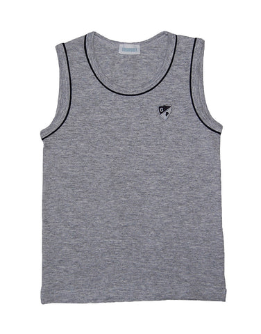 Boys Grey Cotton Vest