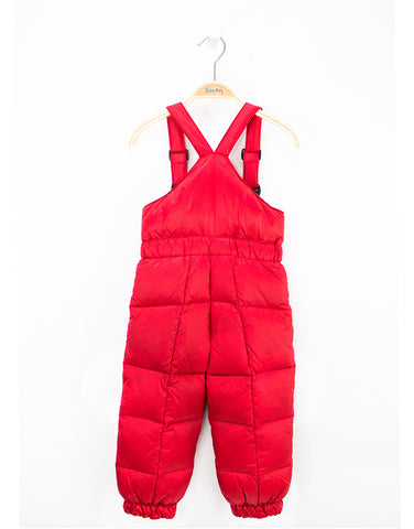 Red Warm Down Winter Kids Jumpsiut For Boys And Girls