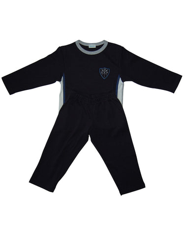 Boys Cotton Navy Two Piece Pajamas