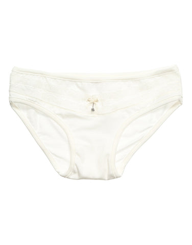 Girls ivory-white knickers with ribbon bow - La Perla