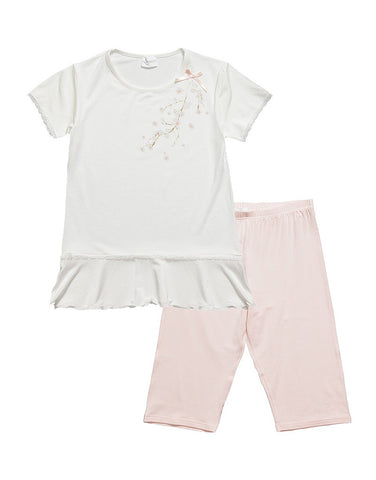 Girls Modal Pajamas With Bow
