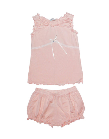 Girls Cotton Coral Pink Pajamas