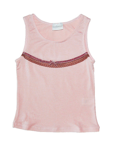 Girls cotton pink T-shirt - La Perla