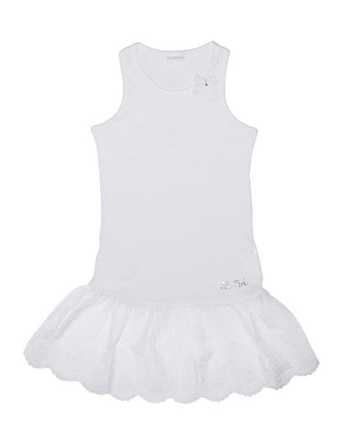 Girls white occasion dress - Piccola Ludo