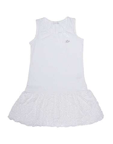 Girls white cotton occasion dress - Piccola Ludo
