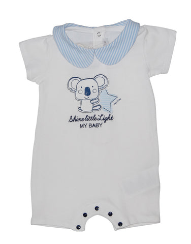 White baby-grow with panda print - Mash