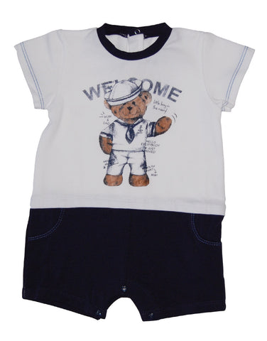 Baby cotton sailor-suit with Teddy Bear - MAsh