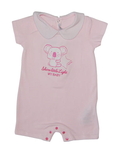 Pink cotton baby-grow with panda - Mash