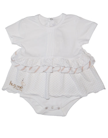 "White baby girl vest with ""Hug Me"" logo - Mash"