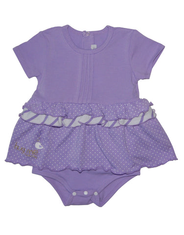 Girls cotton purple baby-grow - Mash