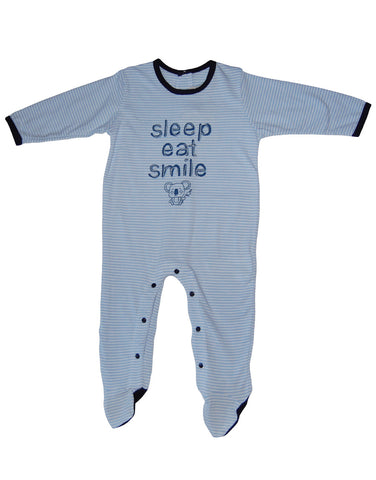 Boys cotton blue baby-grow  - Mash