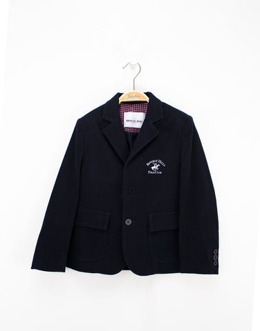 Boys Navy Cotton Winter Blazer
