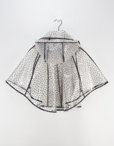 Girls Transparent Shell Raincoat
