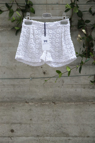 Girls white cotton shorts - Piccola Ludo