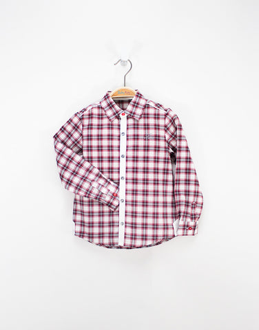 Checked Boys Cotton Shirt