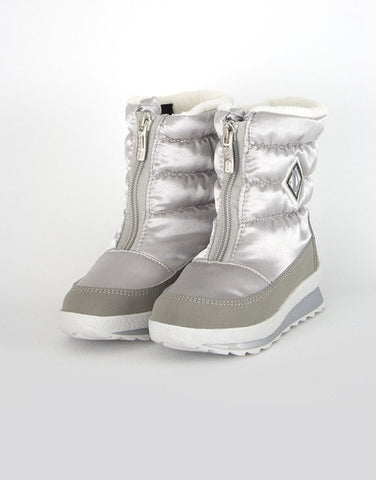 Girls Silver Winter Waterproof Boots