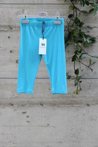 Girls blue cotton leggings - Piccola Ludo