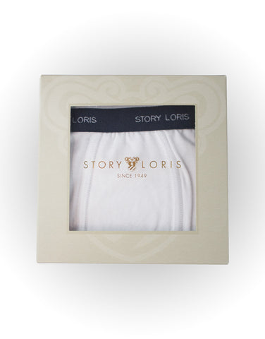Boys white cotton briefs