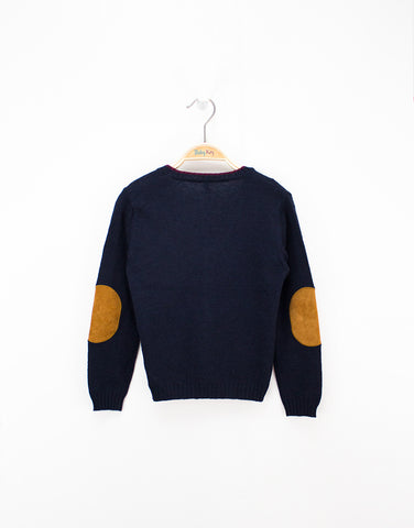 Boys Navy Cardigan With Metal Buttons