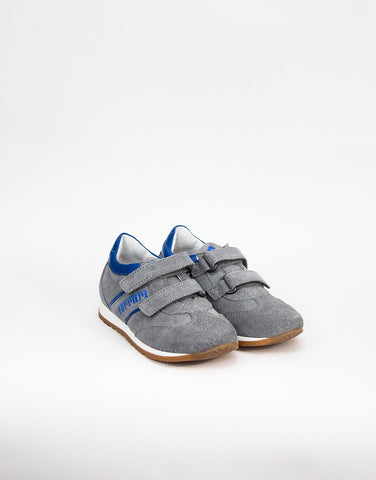 Boys Grey Suede Trainers