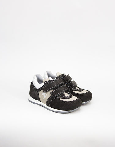 Boys Charcoal Suede Trainers
