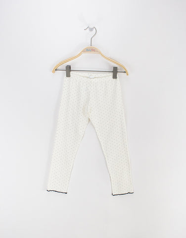 Girls Ivory Pyjamas With Lace Trim And Bow