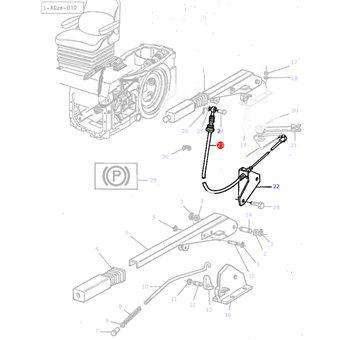 Massey Ferguson Handbrake Cable - 3581142M2