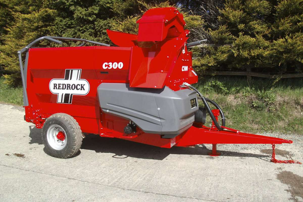 Redrock C300 Straw Chopper and Bale Feeder